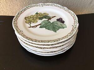 "GUC Vtg Noritake ROYAL ORCHARD 6 Dessert Plates / SAUCERS 6 1/2"" Lot China #9416"