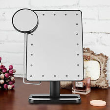 Touch 10x Magnifying 20 LED Lighted Makeup Mirror Portable Cosmetic Vanity Table
