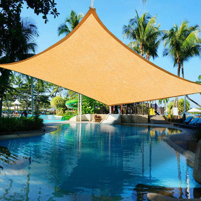 4.9x3.7m Rectangle UV Proof Sun Shade Sail Outdoor Garden Cover Canopy Awning
