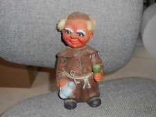 "MONK NODDER  - 9 1/2"" German Heico Friar Troll Doll - Rare"