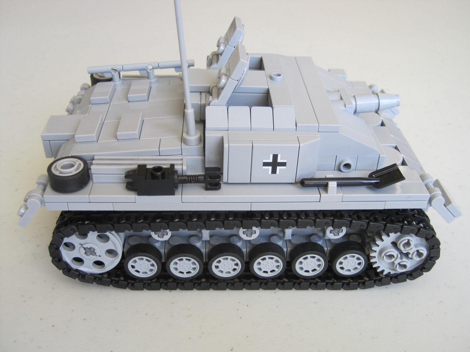 Lego WW2 GERMAN Vehicle StuG III Sd.Kfz 142 142 142 ausf. E Tank Artillery NEW 2dac3e