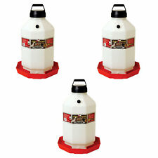 Little Giant Ppf7 7 Gallon Automatic Poultry Waterer For Chickens Red 3 Pack
