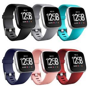 6x-Fitbit-Versa-Armband-Ersatz-Silikon-Band-Uhrenarmband-Fitness-Tracker
