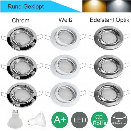 8//4x LED Einbaustrahler Spots Einbauleuchten Lampe ultraflach Deckenspots 230V