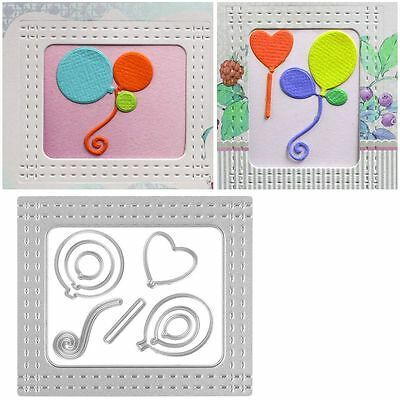 Balloons Metal Cutting Dies Stencil Scrapbooking Album Card Embossing Craft