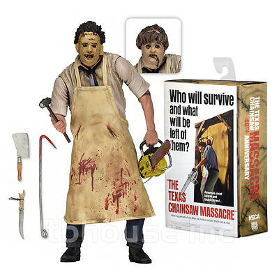 """Texas Chainsaw Massacre 7/"""" Leatherface Ultimate Figure with Accessories by NECA"""