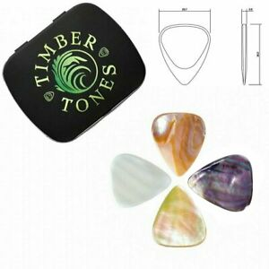 Timber-Tones-039-Shell-Tones-039-Gift-Tin-of-4-Mixed-Picks-Plectrums