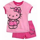 SANRIO ensemble short + t-shirt HELLO KITTY rose taille 6 mois NEUF