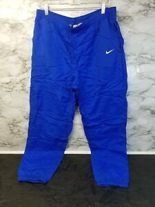 prevalent purchase original great deals Details about Vintage Nike Nylon Track Pants Blue Mens Size Large Thin  Athletic Zip Legs #22
