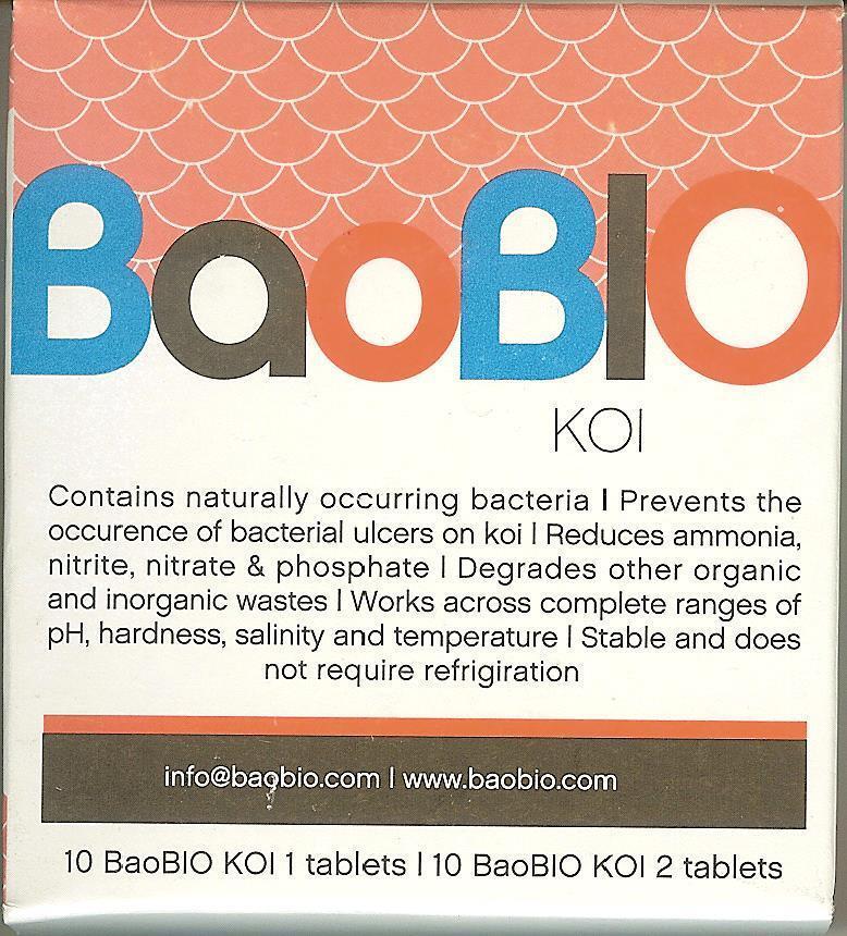 6 Pacco Baobio  Bao Bio Protegge il Vostro Koi Im Stagno! 6 x 20 Pillole