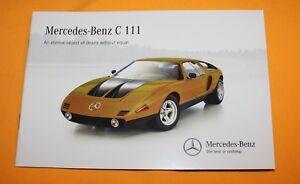 Mercedes-C-111-English-Brochure-Depliant-Catalog-Prospekt-Folder-Prospetto