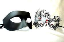 Black Swan Couple Masquerade Mask pair Costume School Birthday Wedding Party