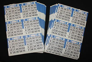 BINGO PAPER Cards Kit 6 on 5 up Black rotation 50 packs  FREE PRIORITY SHIPPING
