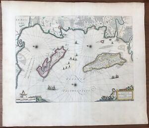 Détails Sur Carte Géographique Xvi ème Blaeu 1645 Ile De Ré Et Doleron La Rochelle