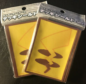 Pokemon-Center-Japan-Exclusive-Pikachu-Tail-Sleeves-Two-32-Count-New-Sealed