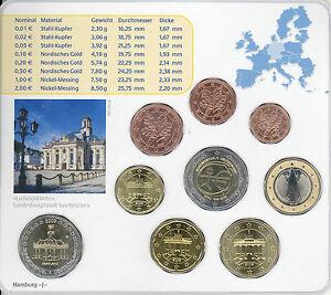 BU 2009 Allemagne 5 coffret complet,  9 pieces,  A+D+F+G+J