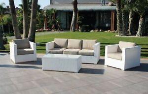 Divano divani poltrone poltrona esterni giardino vimini esterno tavolini sedie ebay - Divani x esterno ...