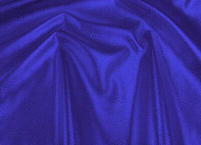 BLUE IRIDESCENT SOFT SKIN LEATHER WHITE BACKING FABRIC UPHOLSTERY JACKET BAG