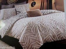 2PC Style Domain Kenyon Twin Duvet Set Beige Brown Zebra Animal Print