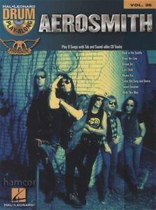 Actif Aerosmith Drum Play-along Vol 26 Book/cd-afficher Le Titre D'origine 100% De MatéRiaux De Haute Qualité