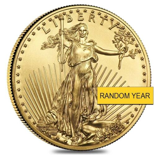 Random Year 1//10 oz Gold American Eagle $5 Coin BU