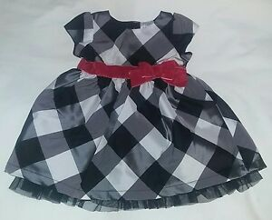 20031dcbae6cf EUC Carter's JOY 3 Month Baby Girl Black Plaid Dress~Christmas ...