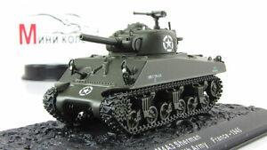 Scale model tank 1:72  M4A3 Sherman 1945
