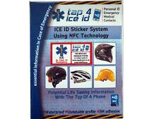 ID di emergenza di ghiaccio adesivi da tap4ice ICE-Cycle Casco ID ADESIVI NFC