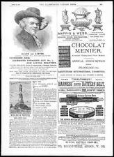1884 Advertising - BRYANT & MAYS MATCHES Birds Custard Chocolat Menier etc (194)
