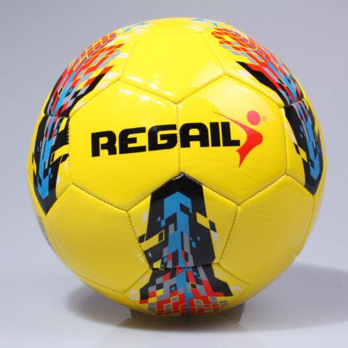 REGAIL Football Soccer Match Training Practice Ball Size 5 School Sport Present