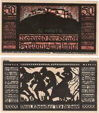 Germany 50 Pfennig 1921 Notgeld Freyburg AU-UNC Banknote - Gothic Castle