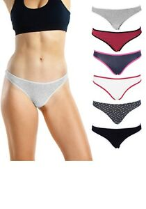 586f6b0be Emprella Women s Underwear Thong Panties - 6 Pack Colors and ...