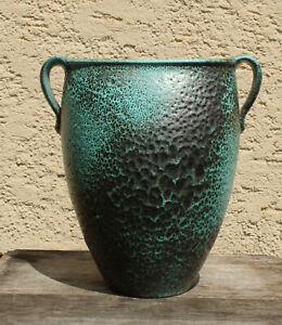 Praechtige-Boden-Vase-Studiokeramik-Elly-Wilhelm-Kuch-50er-60er-Vintageceramics