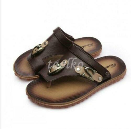 Homme Sandales Chaussures Chaussons Plage Vacances Enfiler Flipflop Summer Korean Casual