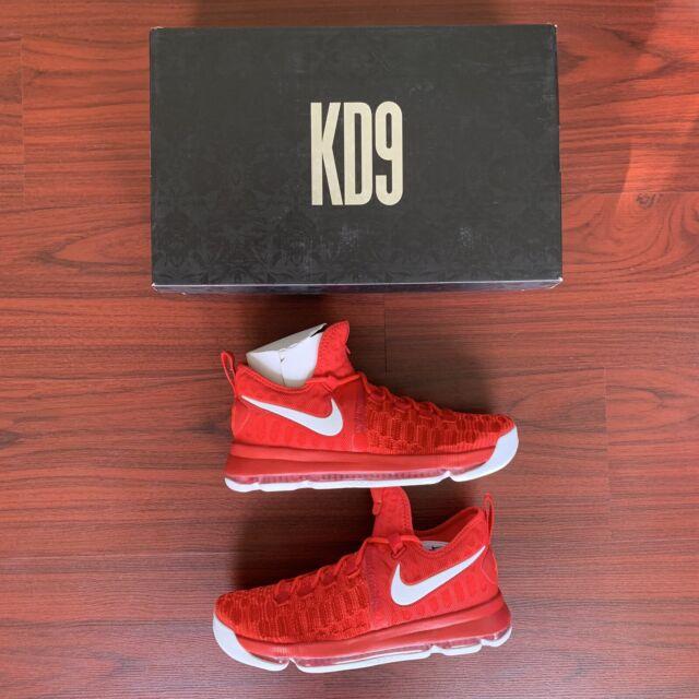 a9b9a2bce7b Nike Zoom KD 9 IX Sz 10 University Red White Kevin Durant 843392 611