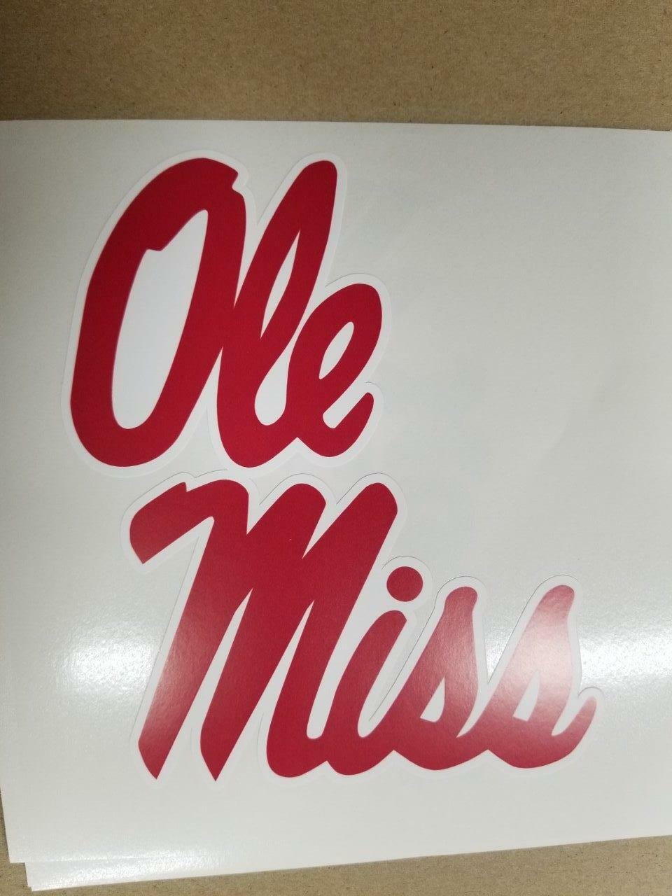 Ole Miss cornhole board or vehicle decal(s)  OM1