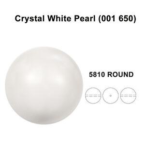 2014e33dd869 Image is loading CRYSTAL-WHITE-PEARL-001-650-Genuine-Swarovski-5810-