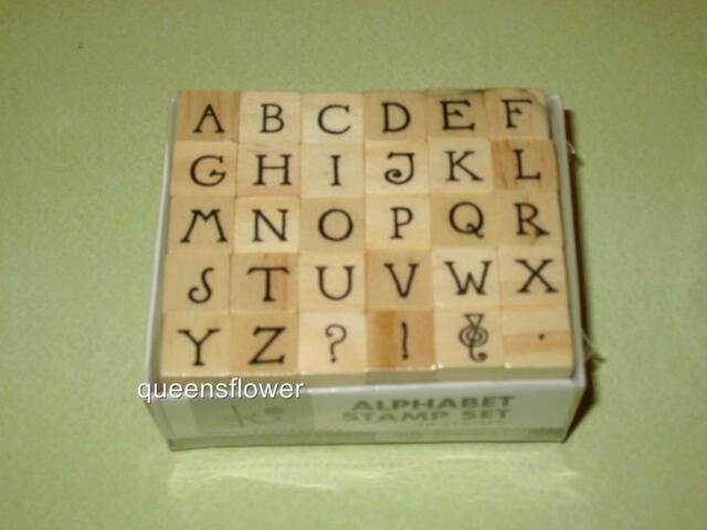 HAMPTON ART KI MINI WOOD UPPER CASE ALPHABET STAMPS 30