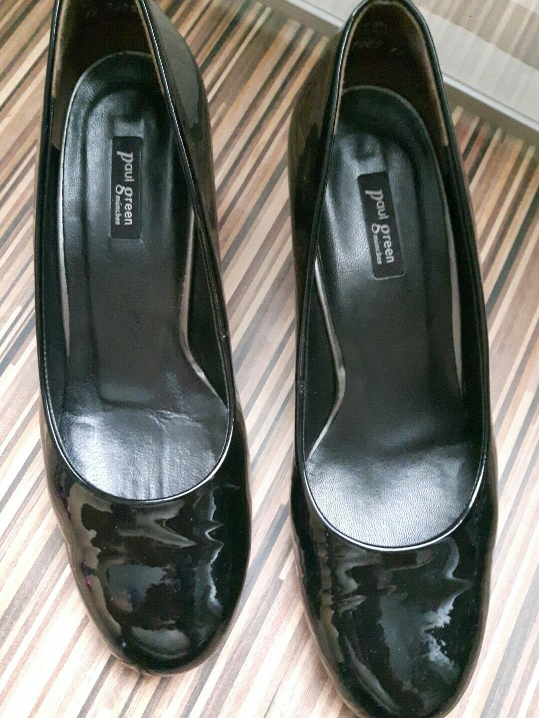 ☸✰☸✰☸ Nero Paul verde VERNICE PUMPS 5 Nero ☸✰☸✰☸ Taglia 5 PUMPS   29f427