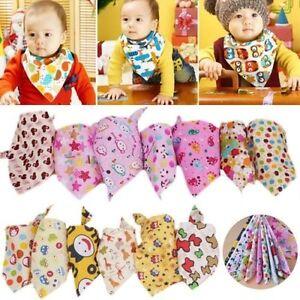 5Stk-Dreieckstuch-Suess-Laetzchen-Baby-Spucktuch-Halstuch-Dreieck-Kopf-Tuch