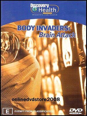 BODY INVADERS - BRAIN ATTACK - STROKE - BLOOD CLOT - Health DVD NEW SEALED Reg 4