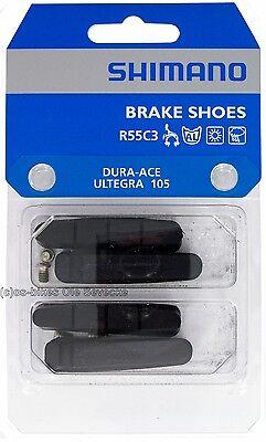 Shimano® R55C3 Bremsgummis für Rennrad-Cartridges Dura Ace, 105, etc. (2Paar)