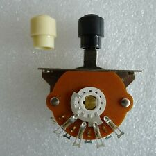 3 Way Blade Lever Switch With Barrel Type White Knob for IMPORT Guitar