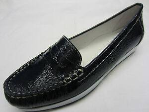 Details about Ladies Van Dal Shoes In Navy Patent Leather 'Anna'
