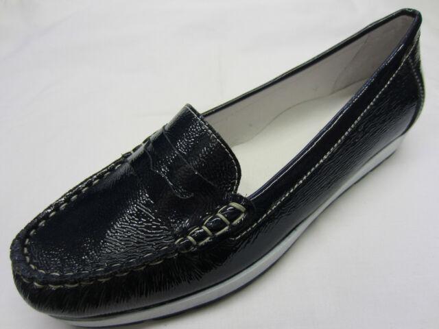 1ed91f30d81 Ladies Van DAL Smart Loafers Anna 6 Uk  39 EU Navy Patent D