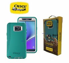 New Otterbox Defender Series case Belt Clip for Samsung Galaxy Note 5 Teal/White
