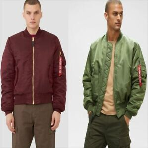 MA-1-Alpha-Industries-US-Army-Pilot-Flight-Military-Bomber-Jacket-Green-or-Red