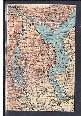 Lago Maggiore Cartina Stradale.Cartolina Cartina Geografica Lago D Orta E Lago Maggiore Ac385 Ebay