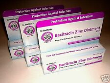 3X Dr. Sheffields Bacitracin Zinc Antibiotic Ointment THREE .5 Oz Tubes