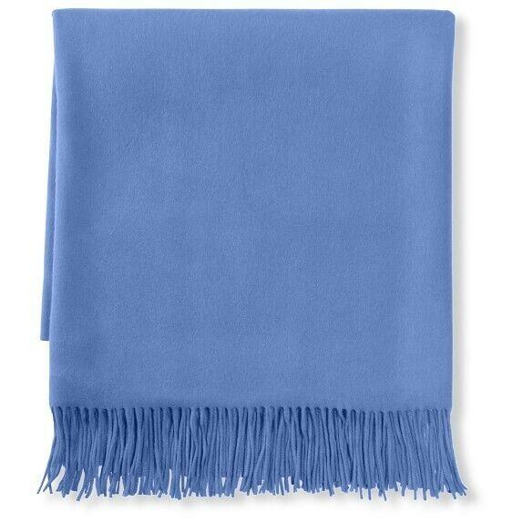 Williams Sonoma Solid Cashmere Throw, Placid Blau